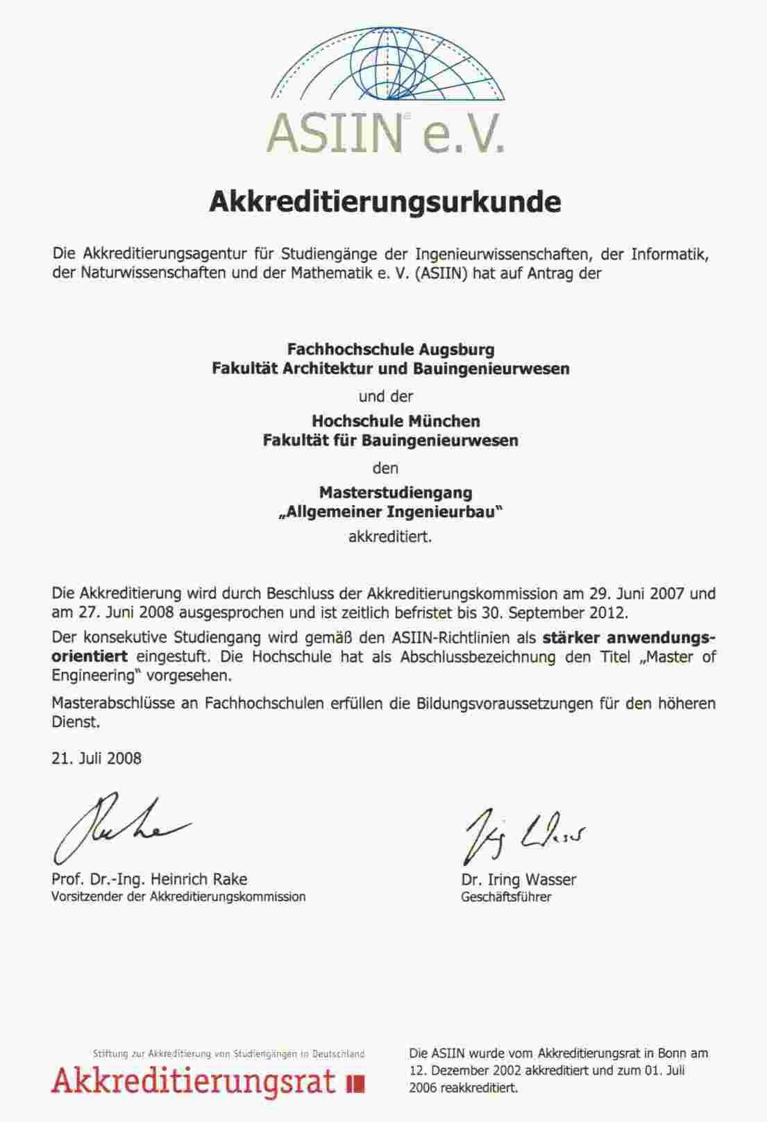auerdem erfolgte die europaweite akkreditierung fr den bachelor den bachelor dual und fr den master - Fh Mnchen Bewerbung