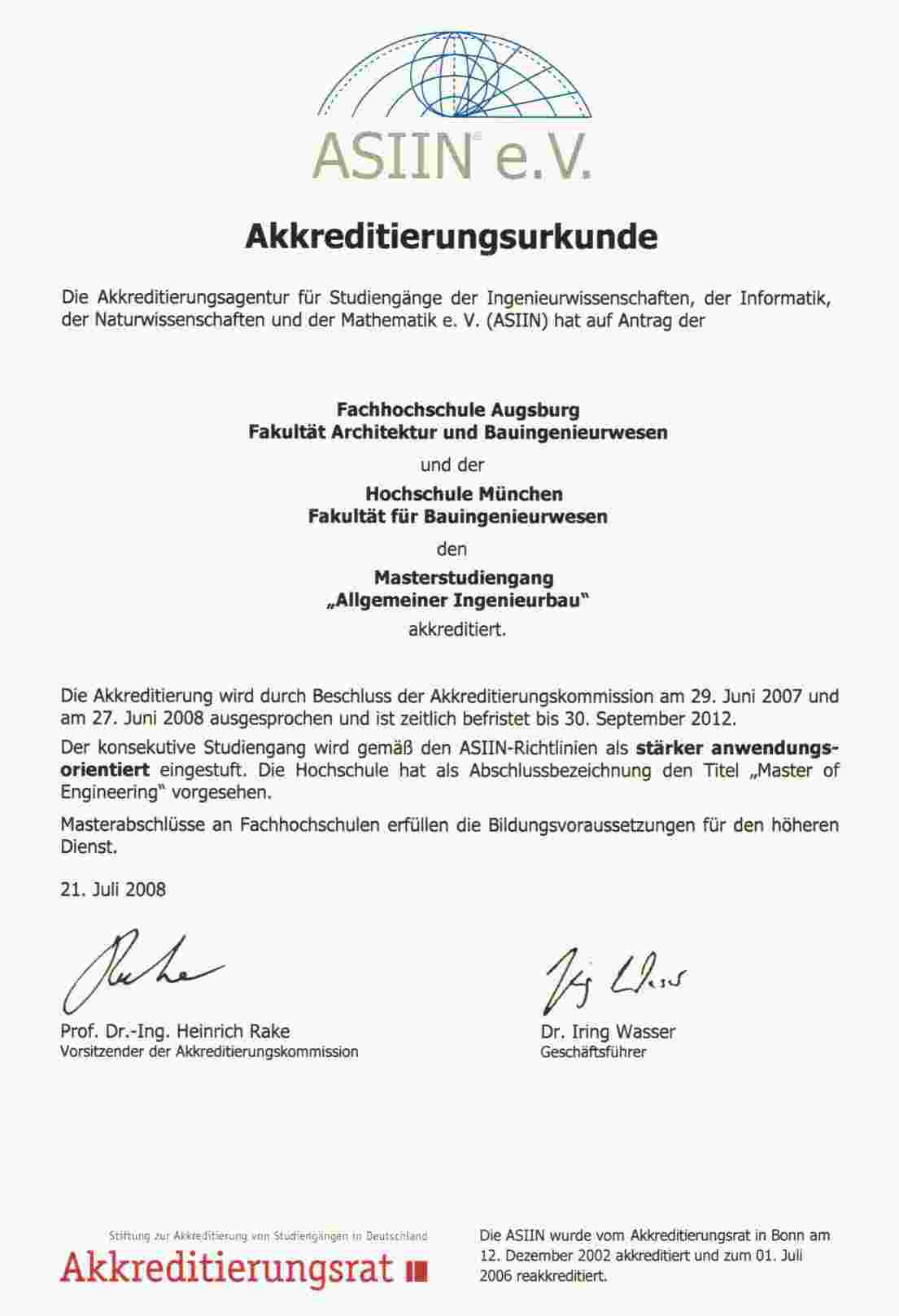 auerdem erfolgte die europaweite akkreditierung fr den bachelor den bachelor dual und fr den master - Fh Munchen Bewerbung